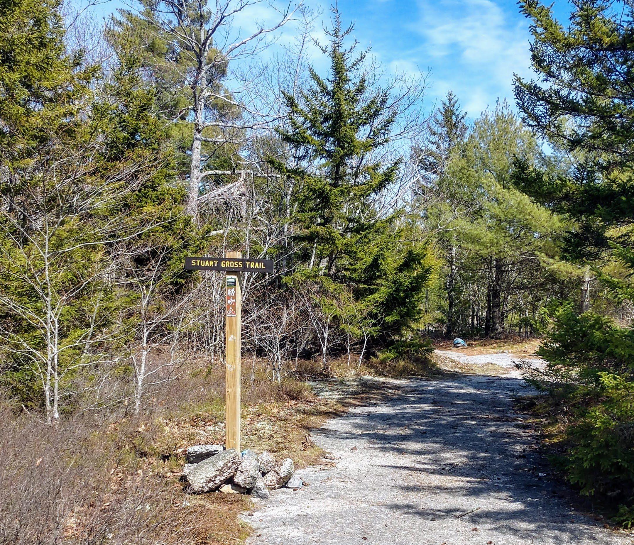 Stuart Gross Trail Sign
